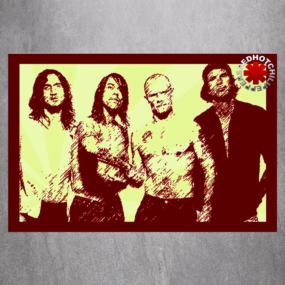 The Red Hot Chili Peppers Canvas Art Print Painting Poster Wall ...
