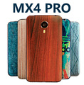 Meizu mx4 pro mx4pro cobertura original de bambu estilo tampa da bateria original tampa traseira dos desenhos animados pintura matte pintado relief capa