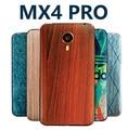 Meizu mx4 pro mx4pro cubierta original de bambú estilo tapa de la batería original de nuevo cubierta de la historieta cubierta de pintura mate en relieve pintado