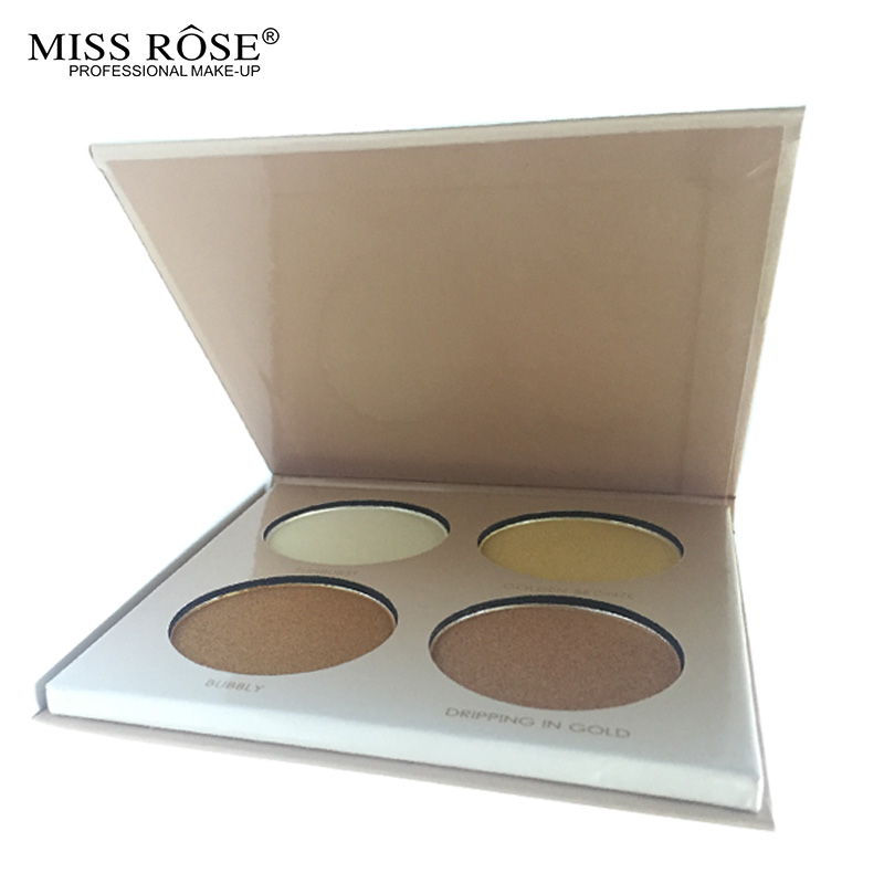 MISS ROSE GLEAM & GOLDEN kit Chocolate illuminator Contour Kit Birthday Edition Face Bronzer&Highlighter Contour Makeup Palette3