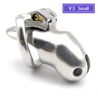 New Arrive V3 Male Chastity Device Stainless Steel Cock Cage Penis Ring Bondage Lock Adult BDSM Sex Toy