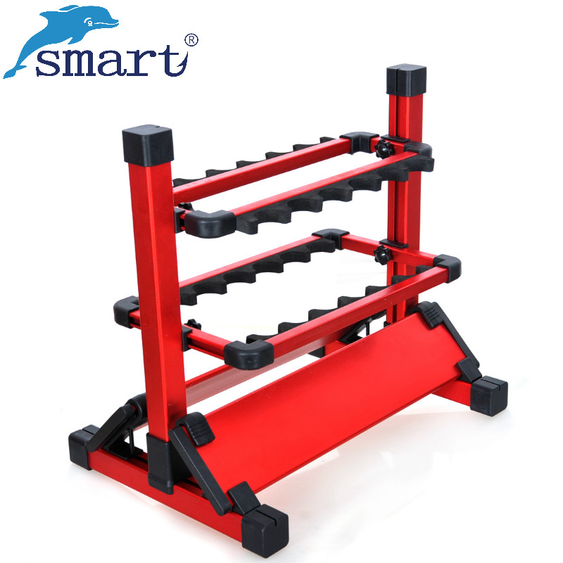 Promotion High Quality Fishing Rod Rack Aluminum 12 Rod Holder For Carp Fish Tackle Tools Pesca De Peche Acesorios