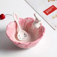Keramik Kaninchen Schüssel Kohl stil Gerichte Kaninchen Obstteller Salatschüssel Geschirr Home Party Dekor Esszimmer Liefert