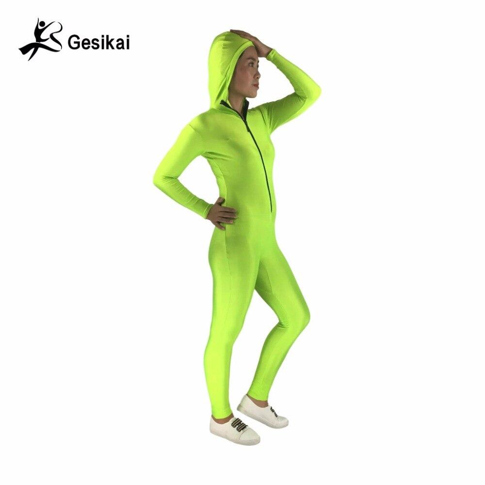 24 ur odposlani ženski kapuco Unitard Spandex Zentai tekaške hlače Ženske fitnes kostumi Brezplačna dostava