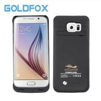 GOLDFOX Samsung Galaxy S6 için 4200 mAh Şarj Edilebilir Harici Yedekleme Güç Bankası Pil Şarj Güç Olgusu Standı Kapak