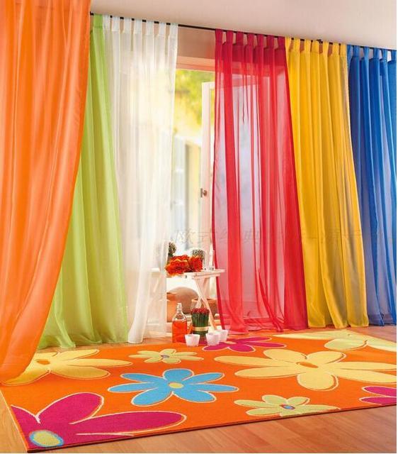 Colorful tulle voile voile tende arredamento per soggiorno camera da ...