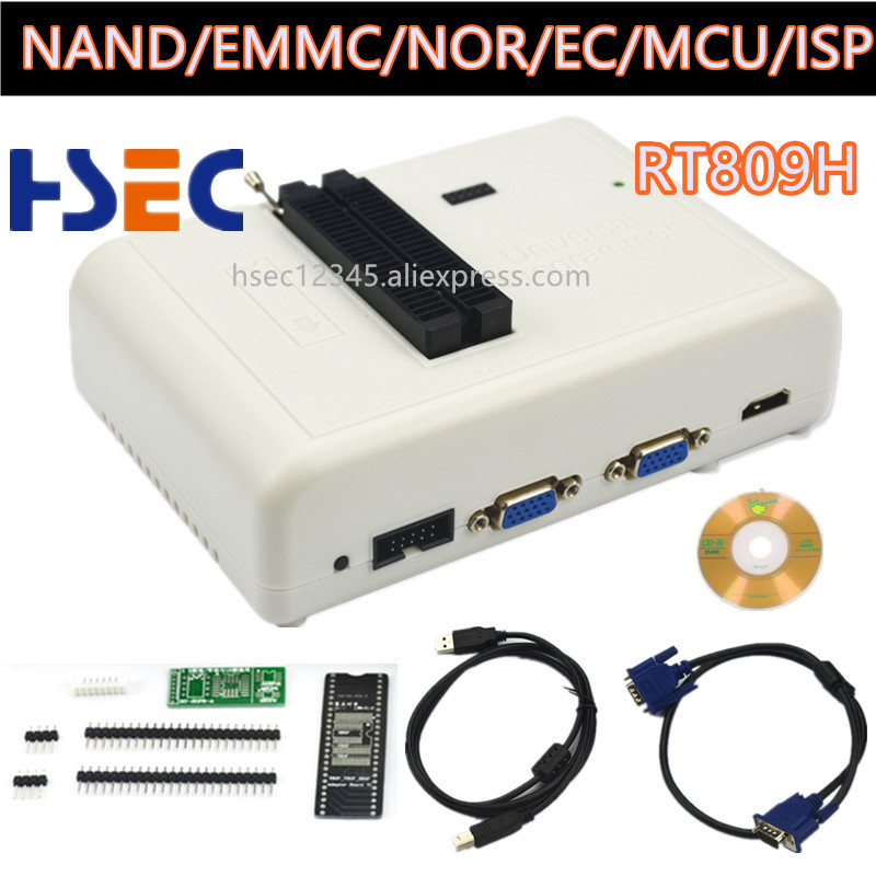 Image 2 - Free shipping Newest Universal RT809H EMMC Nand FLASH Programmer+20 Items SOP8 flash Adapter EMMC NAND NOR better than RT809F-in Integrated Circuits from Electronic Components & Supplies