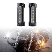 FADUIES черный мотоцикл шоссе бар свет горки светодиодный указатель поворота авария бары для Harley Touring модели