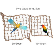 Bird Swing Hammock Climbing Net Toy with Hooks for Parrot Macaw African Greys Cockatoo Bird Cage Accessories(China)