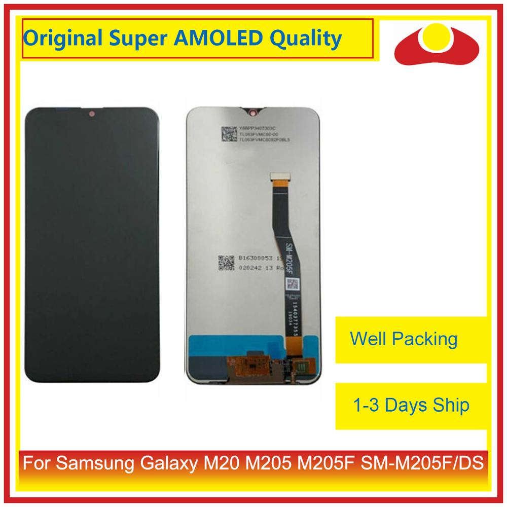 10Pcs/lot Original For Samsung Galaxy M20 M205 M205F SM M205F/DS LCD Display With Touch Screen Digitizer Panel Pantalla Complete-in Mobile Phone LCD Screens from Cellphones & Telecommunications