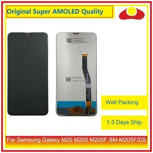 Image 1 - 10Pcs/lot Original For Samsung Galaxy M20 M205 M205F SM M205F/DS LCD Display With Touch Screen Digitizer Panel Pantalla Complete