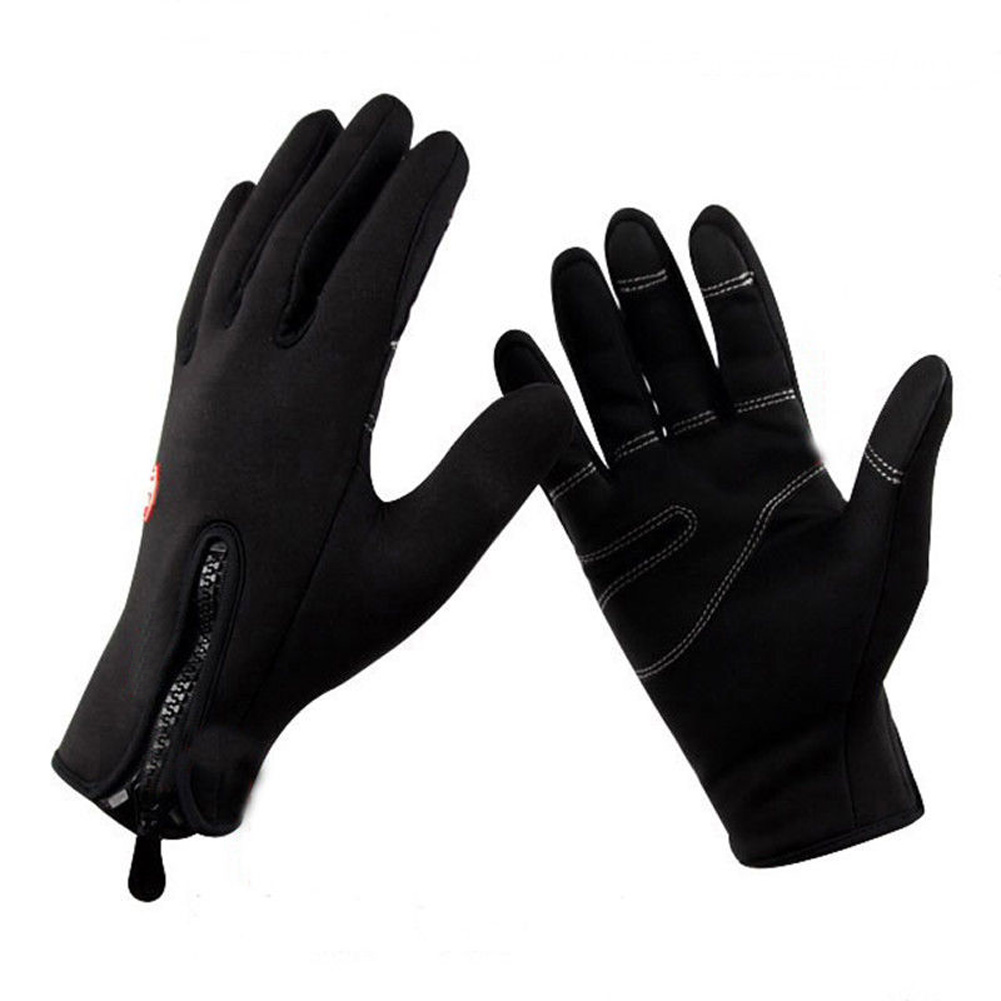 Outdoor Motorbike Riding Cycling Unisex Winter Sports Warm Skiing Windproof Waterproof Protective Motorcycle Gloves M/L/XL