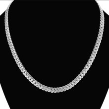 Men's Hip Hop Silver Color Chain Male Stainless Steel snake Chain Necklace For Men, Wholesale Collares 7MM womens Chain Jewelry(China)