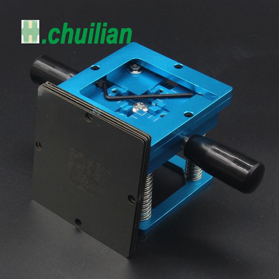 Image 2 - Blue BGA reballing kit 90*90mm BGA reballing station with hand shank Gift 10/PCS BGA Universal Stencil-in Soldering Stations from Tools