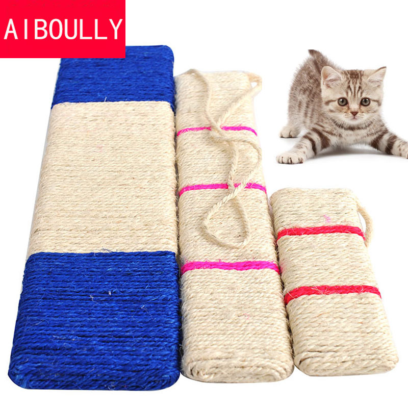 S M L 3 Size Hanging Pet Cat Scratcher Interactive Sisal Cat Scratch Board Funny Playing Cat Toys