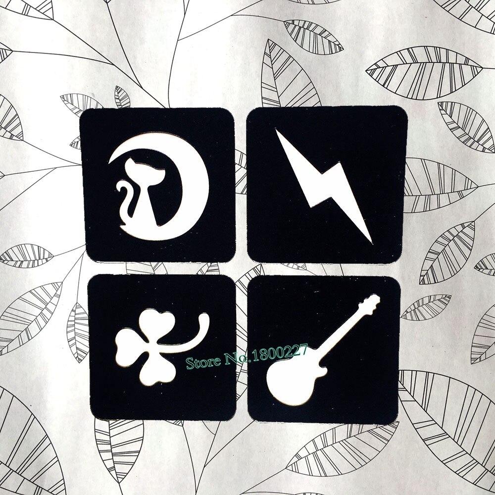 ᗑ1 Unid 4 Estilo Henna Plantillas Para Tatuar Para Las Mujeres