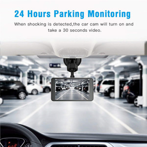 "Image 3 - Dash CAM Dual Lens Full HD 1080P 4 ""IPSรถDVRกล้องด้านหน้า + ด้านหลังNight Visionเครื่องบันทึกวิดีโอG Sensorโหมดที่จอดรถWDR"