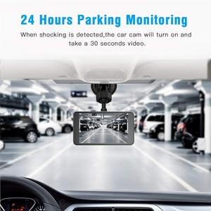 """Image 3 - Çizgi kam çift Lens Full HD 1080P 4 """"IPS araba dvrı araç kamerası ön + arka gece görüş Video kaydedici g sensor park modu WDR"""