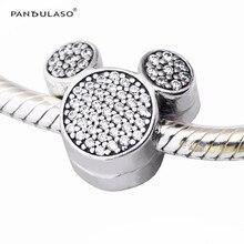 Micky Clip Cristal CZ Beads Fit Pandora Charms Pulsera Original Disny DIY Fabricación de La Joyería para Las Mujeres de Plata 925 NUEVA Moda estilo