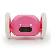 Running Alarm Clock Running Away Electronic Alarm Clock Snooze Moving Wheel Creative Gift Clock