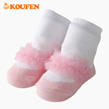 OKOUFEN Lace Patchwork Cute Style Baby Girls Socks Solid Pure Cotton Short Sock Warm Soft Spring Autun Kids Gift