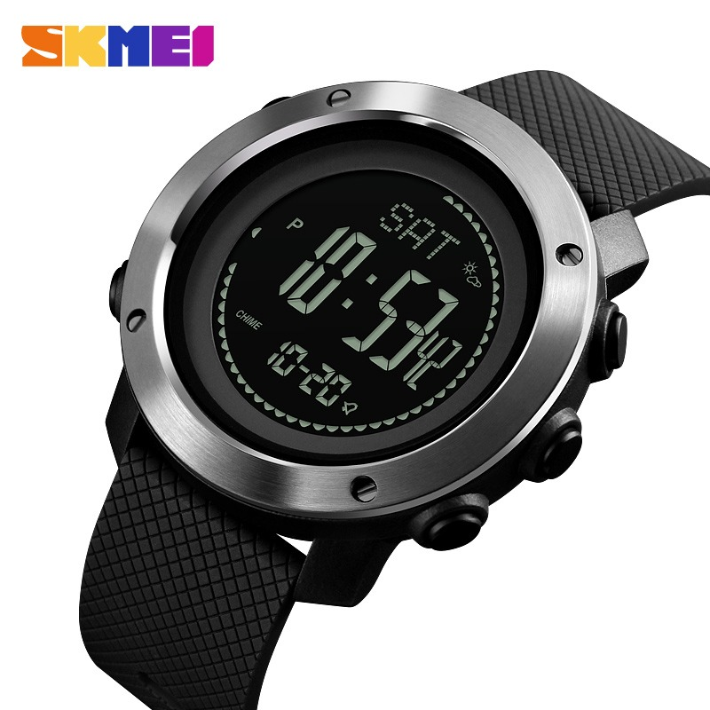 Digital Watches Watches Efficient Spovan Men Women Sport Watch Fashion Ultra Thin Carbon Fiber Dial Red Genuine Leather Altimeter Barometer Multifunction Watches