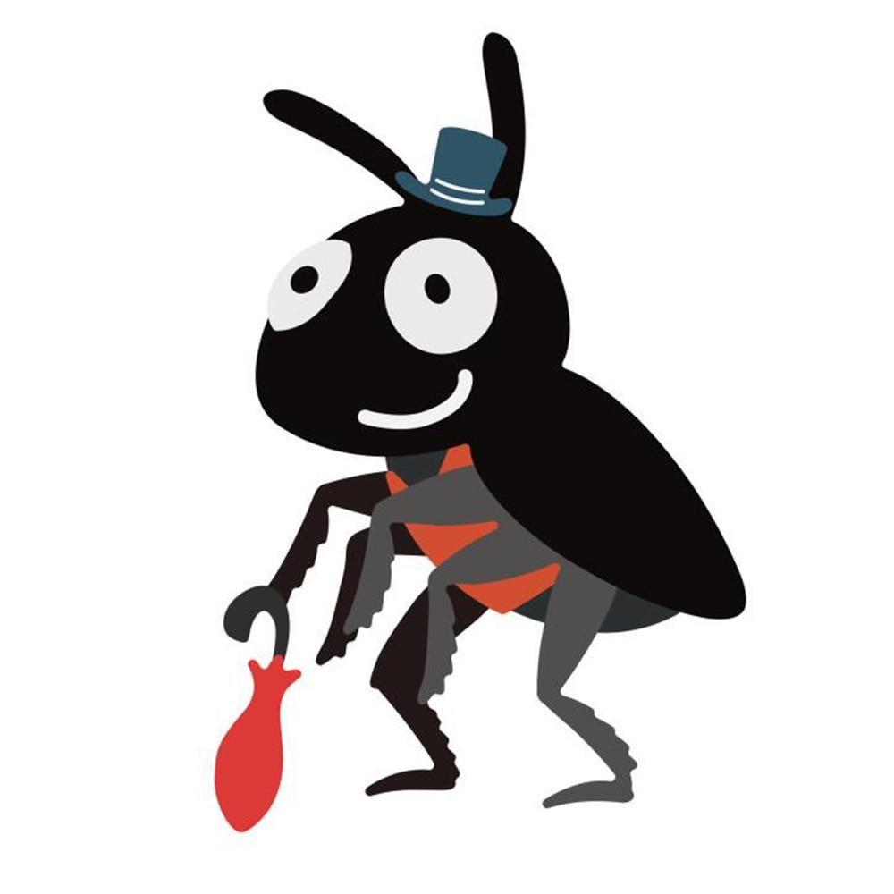 Cartoon Ant Cutting Dies For Scrapbooking Metal Cute Animal Set Die Cuts Stencils Embossing Paper Cards Making Decorative Craft