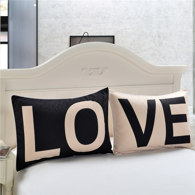 BeddingOutlet Promotion Love Together Pillowcase New Year Gifts Decorative Covers Body Pillow Case Home Bedding Valentine's Gift