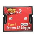 Кард-Ридер 2 Порта Micro SD TF для CF Адаптер MicroSD MicroSDHC для Compact Flash Type I Устройство Чтения Карт Памяти Конвертер.