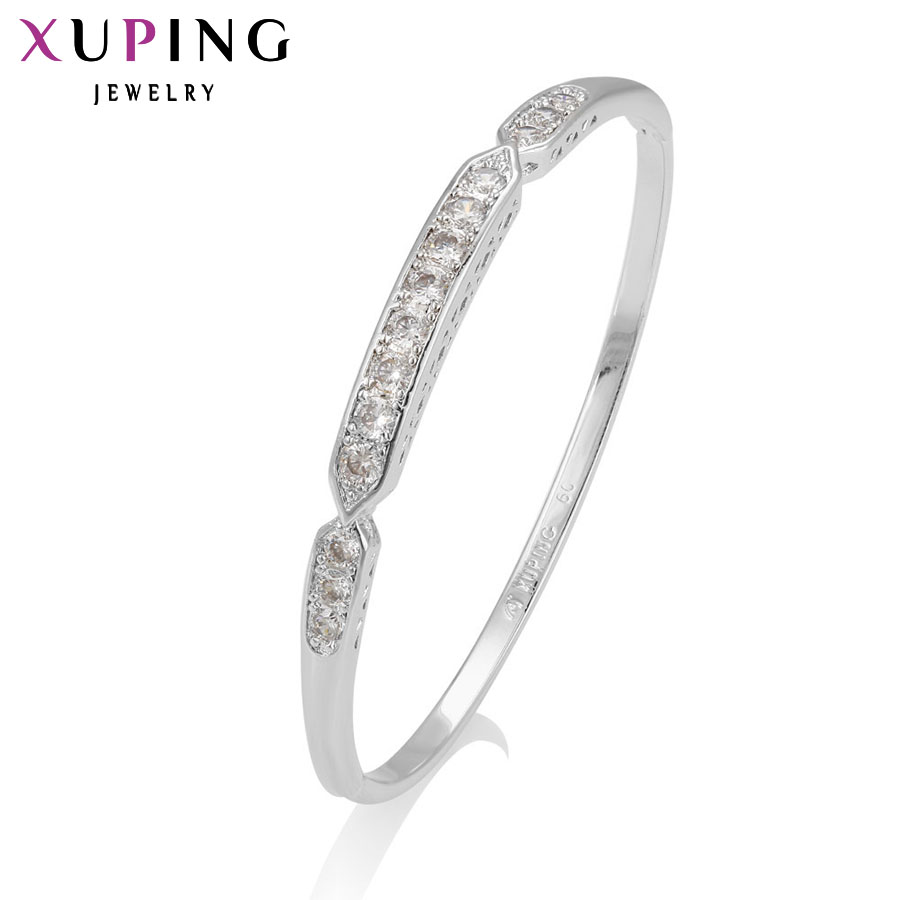 11.11 Deals Xuping Fashion Bangle New Arrival Charm Design Rhodium Color Plated High Quality Jewelry for Women Gifts S8-51300