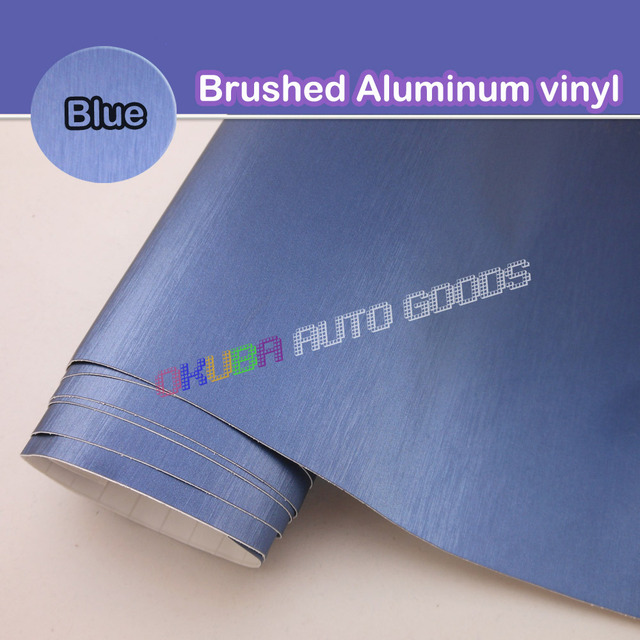 High Quality FedEx FREE SHIPPING Blue Metallic Brushed Aluminum Vinyl car Wrap Film Size:1.52*30M/roll