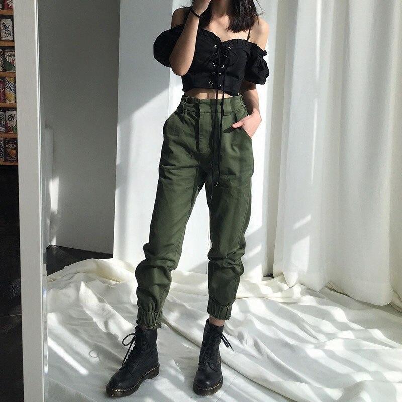 cargo   pants   women streetwear fashion 2019 female womens fall outdoor   capris   pop winter ladies clothing   pant   holiday