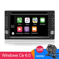 Car DVD Radio 2 din universal autoradio carplay Stereo In Dash FPS Bluetooth USB/SD/AV IN Steering Wheel Control touch FM AM Cam