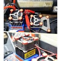 ESC Cooling fan & servo motor radiator for traxxas trx 4 crawler rc car