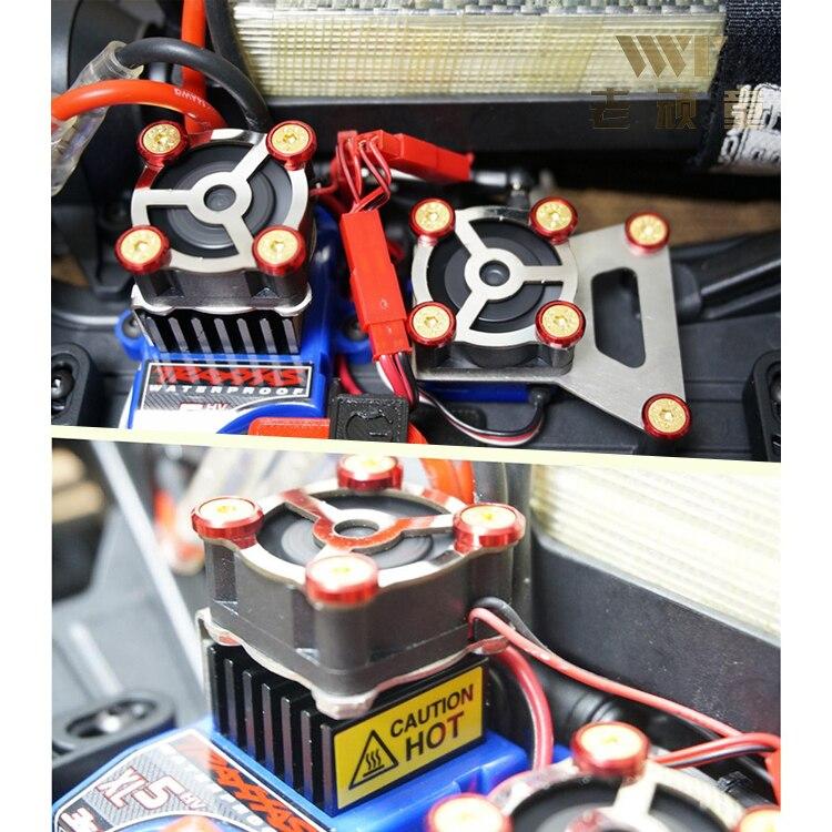 Ventilateur de refroidissement ESC et radiateur servomoteur pour voiture traxxas trx 4
