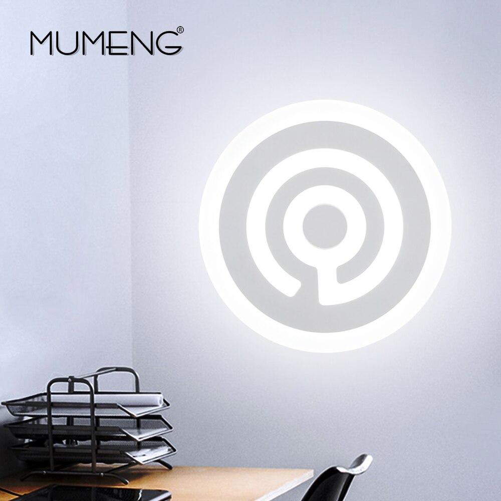MUMENG Moderne Acryl Design Runde Form LED Wandleuchte 15 Watt 220 V Kreative Innen Schlafzimmer