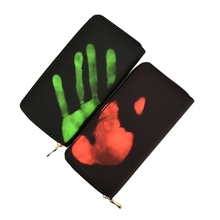 New Magical Thermal Sense Change Color Long Wallet Men Women Phone Case PU Leather Purse Card Holder Male Mujer Carteras