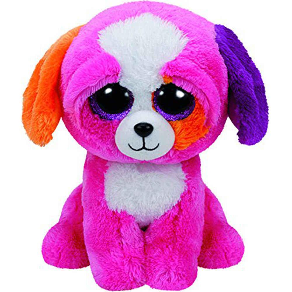 """Pyoopeo Ty бини Боос 6 """"15 см Собака Кошка Сова медведь лиса Единорог Леопардовый Пингвин рыба летучая мышь черепаха-Дракон плюшевое животное кукла игрушка"""