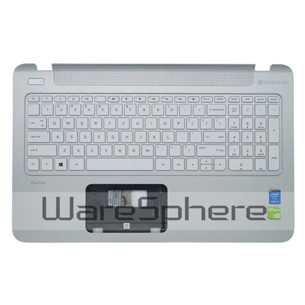 98 New Top Cover Upper Case for HP Pavilion 15 p 762530 001 Silver