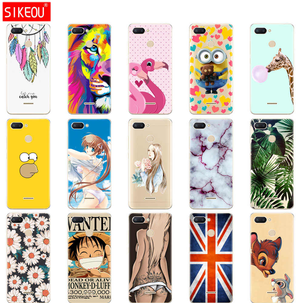 silicone case for Xiaomi Redmi 6 Case Full Protection Soft tpu Back Cover Phone Cases For Redmi6 bumper hongmi 6 Coque marble