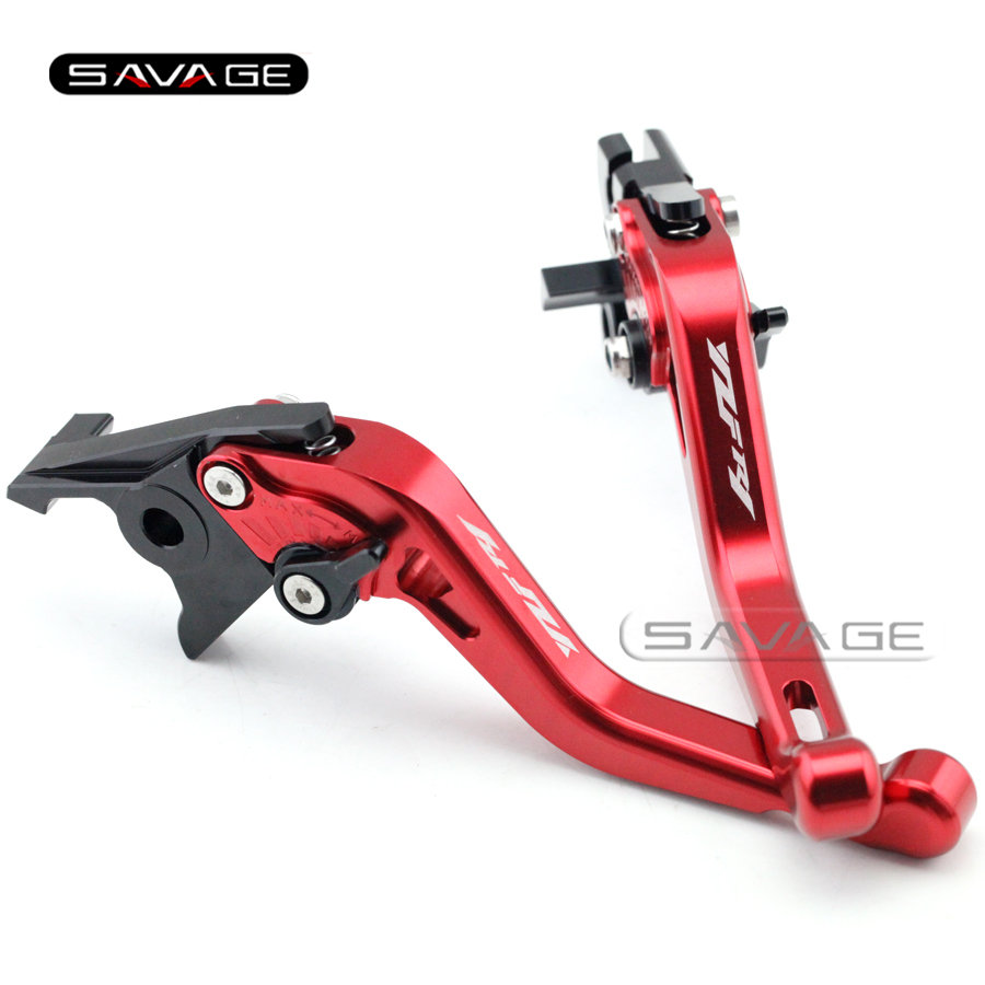 For YAMAHA YZF R1 YZFR1 1999 2000 2001 Red Motorcycle Accessories Aluminum Short Adjustable Brake Clutch Levers logo YZF-R1