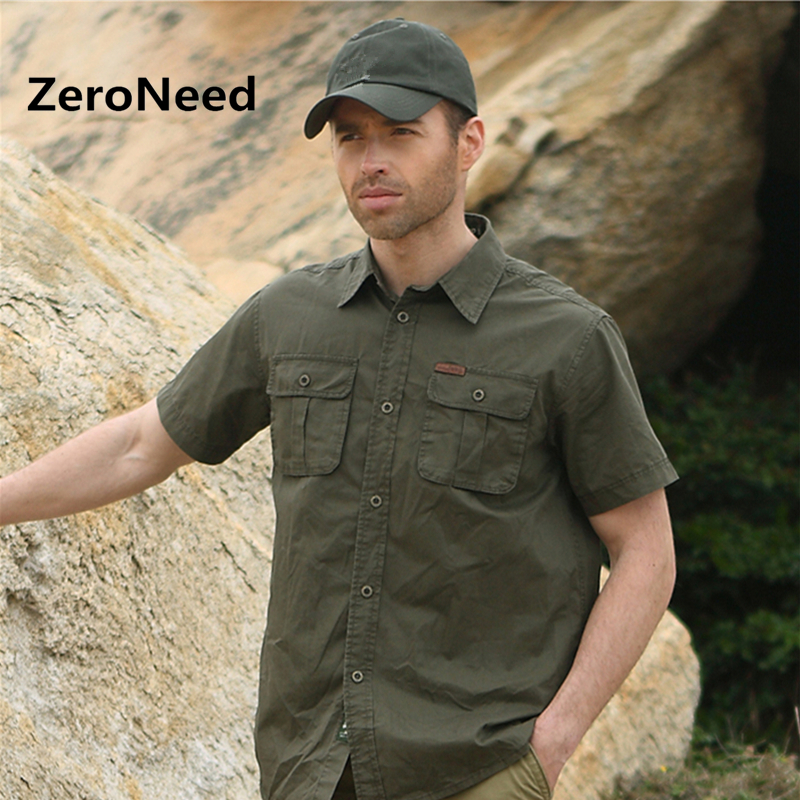 Military Style Mens Shirt Men African Clothes Men S Shirts With Short Sleeves Leisure Pilot Shirt