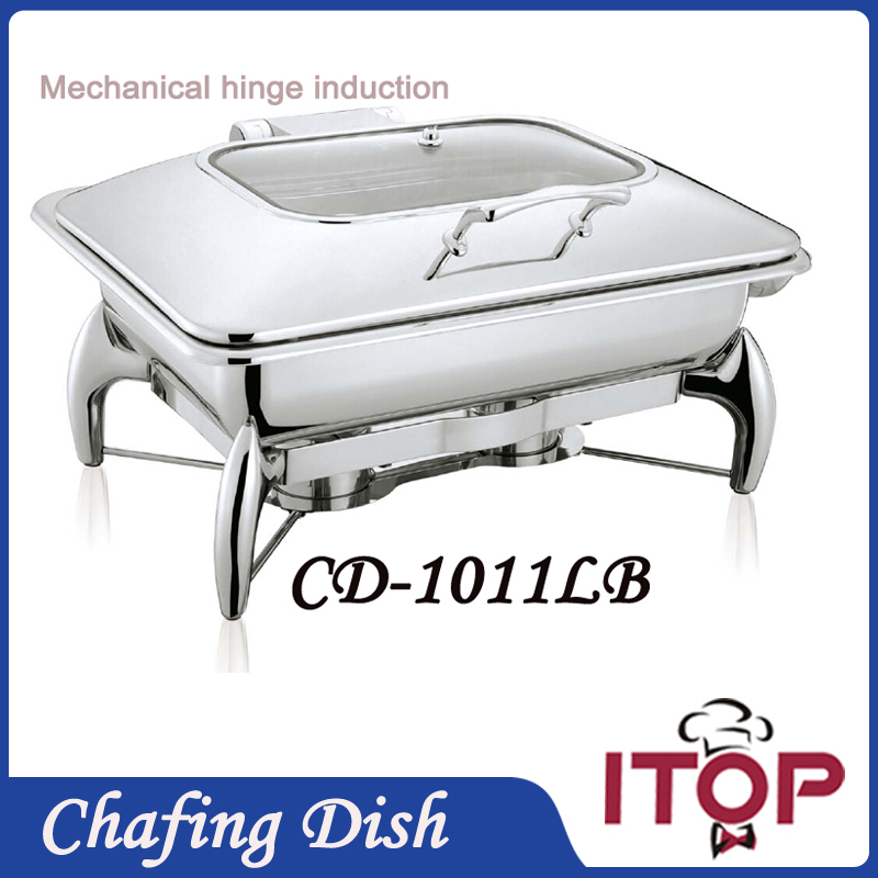 luxurious chafing dish set buffet restaurant mechanical hinge induction food warmer slapup material with 9l gn pan