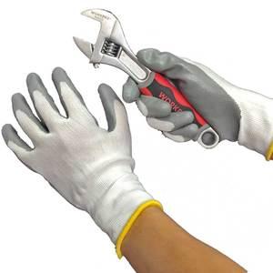 Image 4 - NMSafety النتريل قفازات العمل النايلون بطانة انخفض النخيل سيارة إصلاح الجمعية قفازات أمان العمل