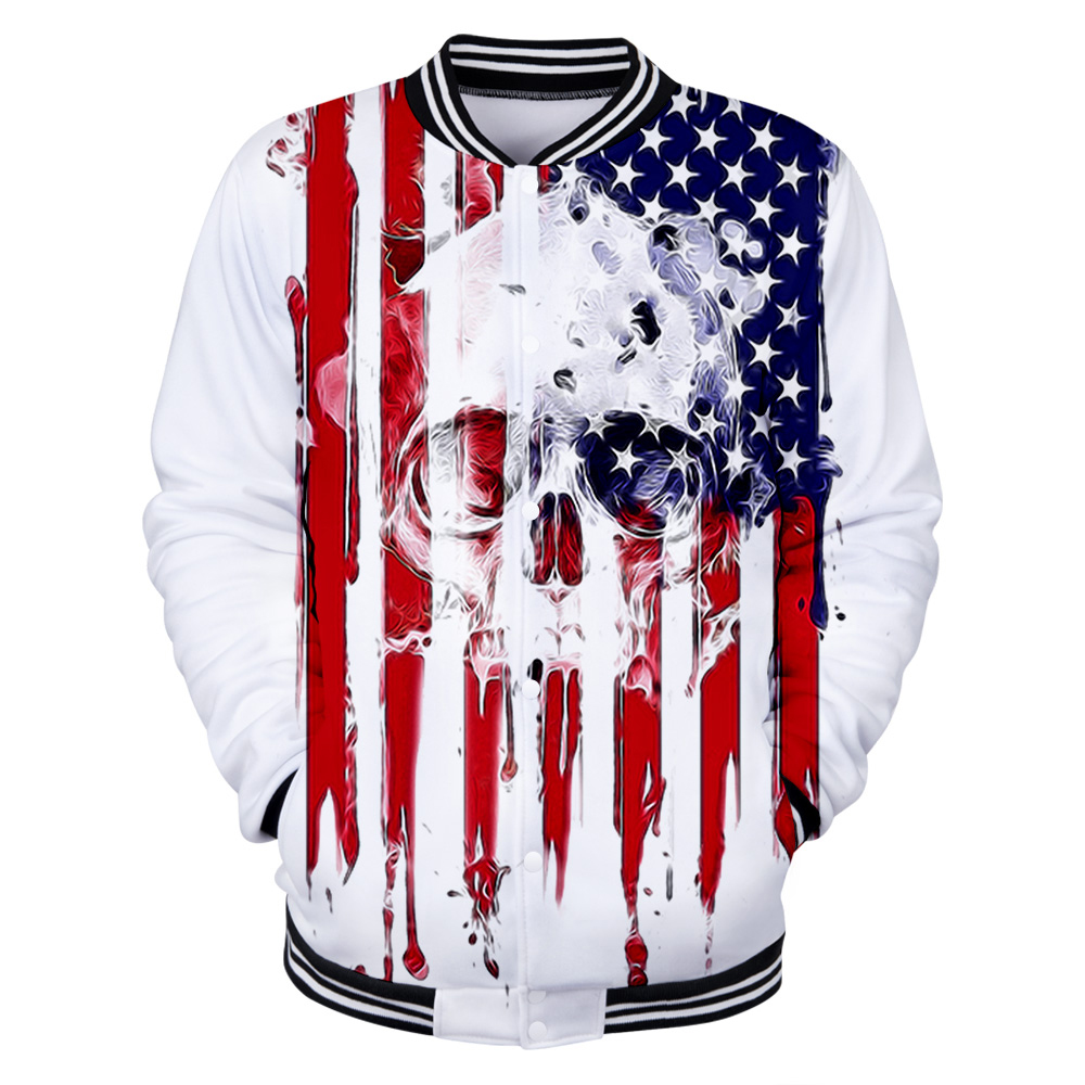 American Independence Day Print Popular New Men/Women 3D Baseball Jacket Trend Boy/Girl 2019 Hot Sale Brand Baseball Jacket