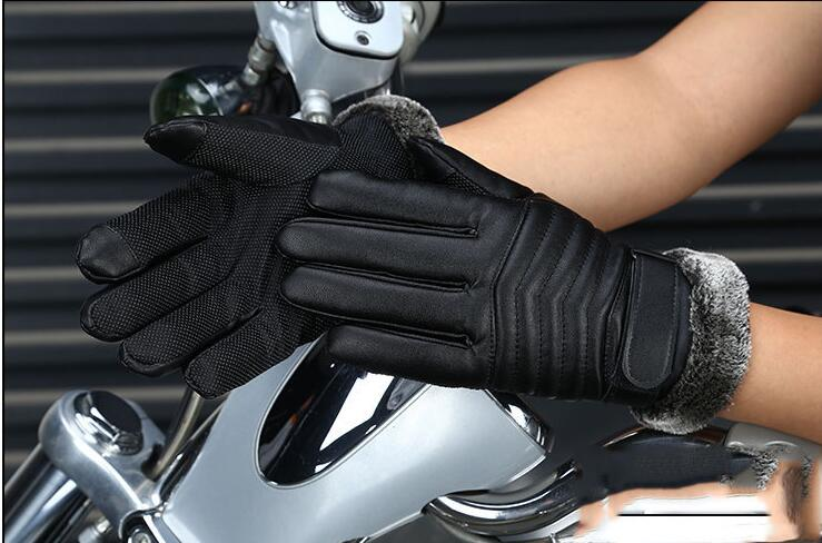 2017 Mens fashion warm winter gloves for men riding skiing gloves in outdoor mitts touching screen high-quality