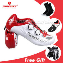 2019 Genuine SIDEBIKE Road Cycling Shoes Men Ciclismo Mtb 40-46 Size Bike Scarpe Self-Locking