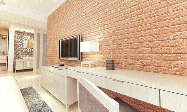 3D Wall Stickers Imitation Brick Bedroom Decor Waterproof Self-adhesive Wallpaper Backdrop 4