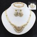 Perlas de africanos Conjuntos de Joyería de Fantasía de Oro Plateado mujeres de La Manera de La Boda Accesorios Nupciales Del Partido accesorio de La Joyería de oro