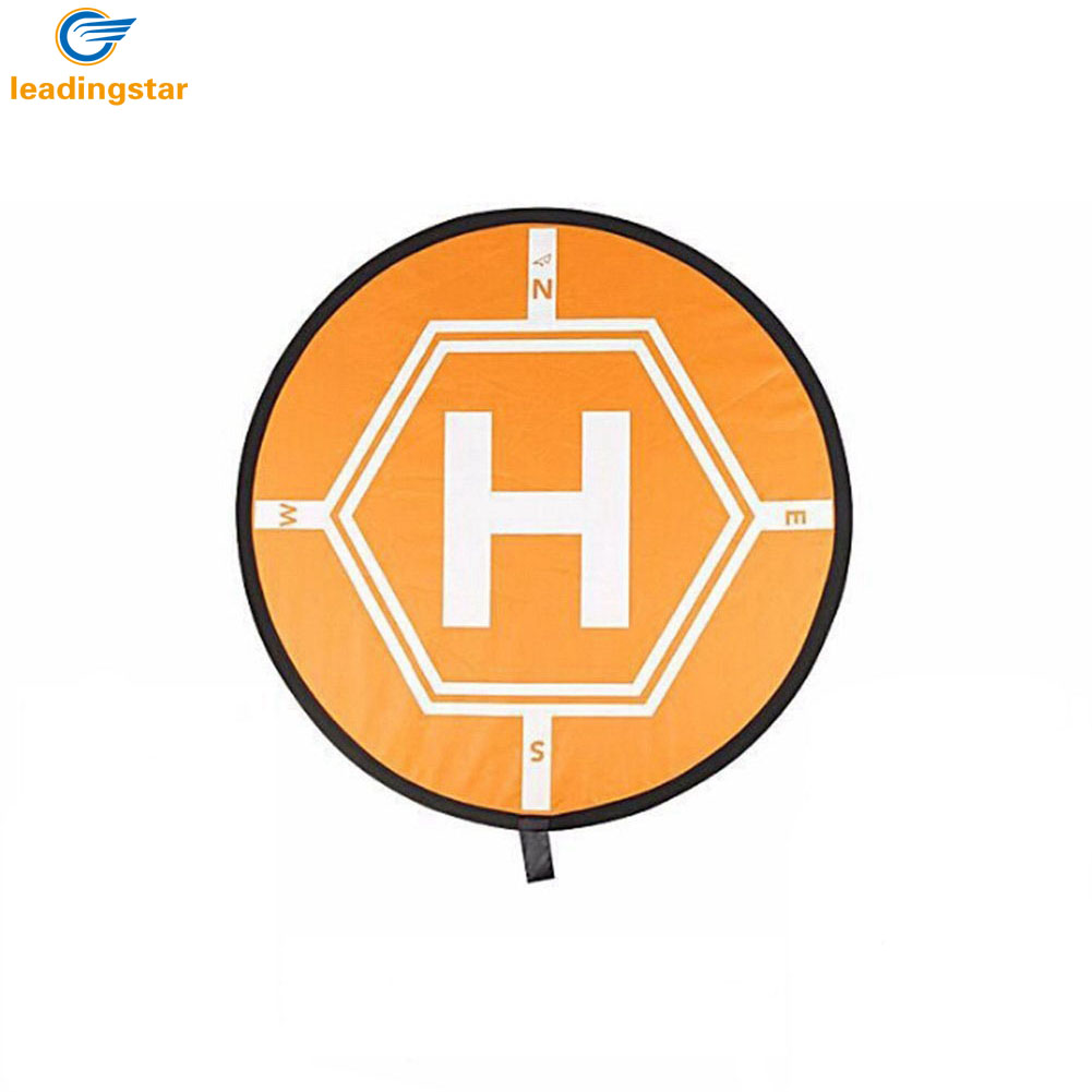 LeadingStar Universal Drone Landing Pad RC Quadcopter Helicopter Apron Fast-fold Helipad for Micro Drone Orange drone helipad